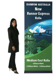 Banner Express rollaway bannerstand