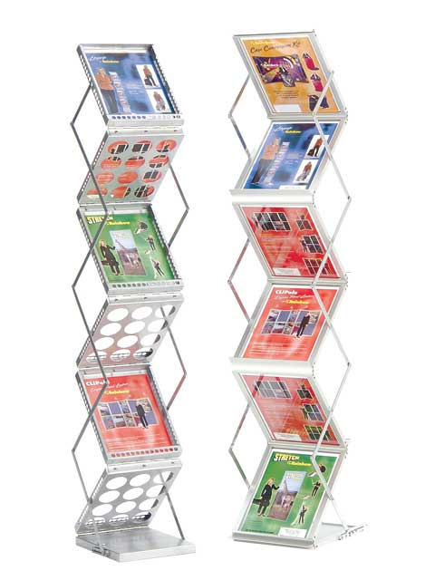 Step Up brochure stands - clear