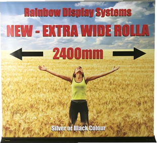 2400mm extra wide speed rollaway bannerstand